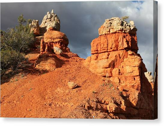 Canvas Print - Red Rock And Sandstone by Christine Rivers