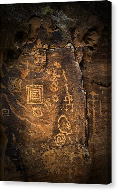 Red Rock Art Canvas Print