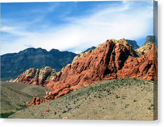 Red Rock Canyon Canvas Print by Andrea Dale