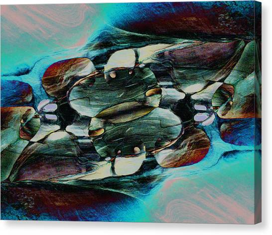Red Rock Canyon Blues 2 Canvas Print