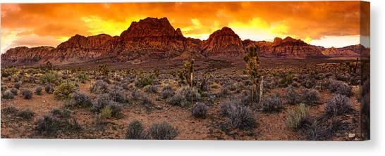 Red Rock Canyon Las Vegas Nevada Fenced Wonder Canvas Print