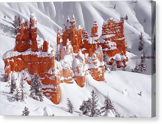 Canyon Canvas Print - Red Rock Castle by Marianna Safronova
