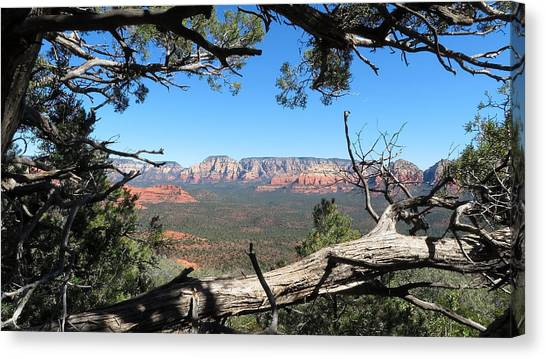 Red Rock Country From Doe Mountain Canvas Print