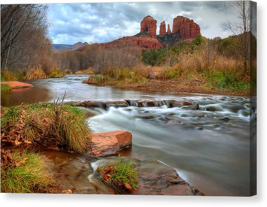 Red Rock Crossing Canvas Print