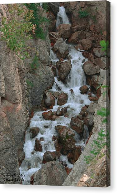 Red Rock Falls Canvas Print
