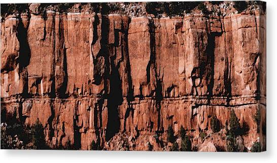 Red Rock Wall Canvas Print