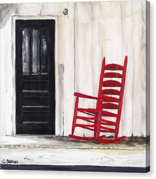 Red Rocker Canvas Print by Carla Dabney