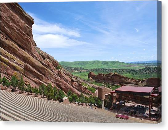 The Amphitheatre Canvas Print - Red Rocks by Charlie and Norma Brock