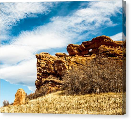Red Rocks Dragon Canvas Print