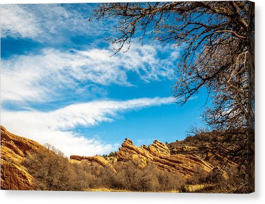 Red Rocks View 001 Canvas Print