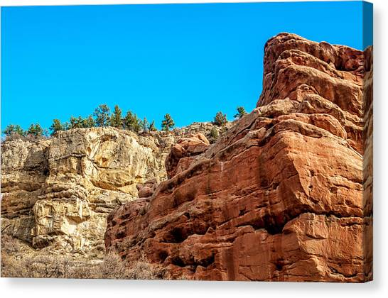 Red Rocks View 002 Canvas Print
