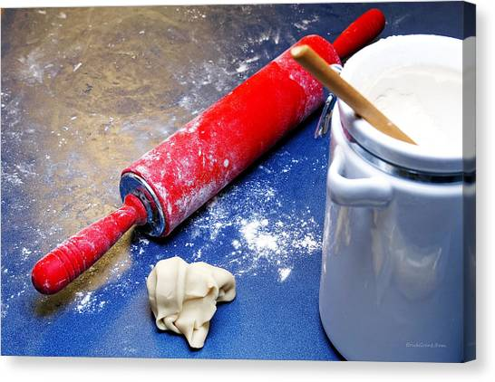 Red Rolling Pin Canvas Print