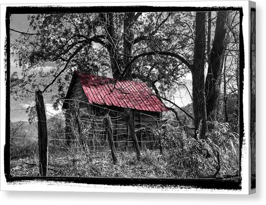 Tn Canvas Print - Red Roof by Debra and Dave Vanderlaan