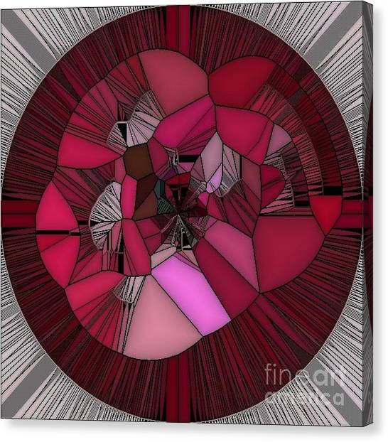 Red Rose In The Heart Canvas Print