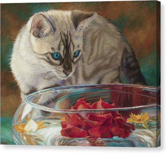 Bengals Canvas Print - Red Rose by Lucie Bilodeau