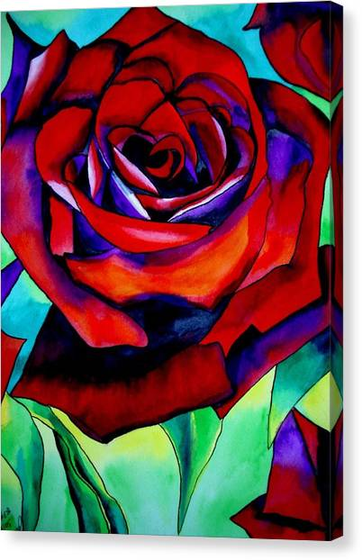 Red Rose Macro 2 Canvas Print by Sacha Grossel