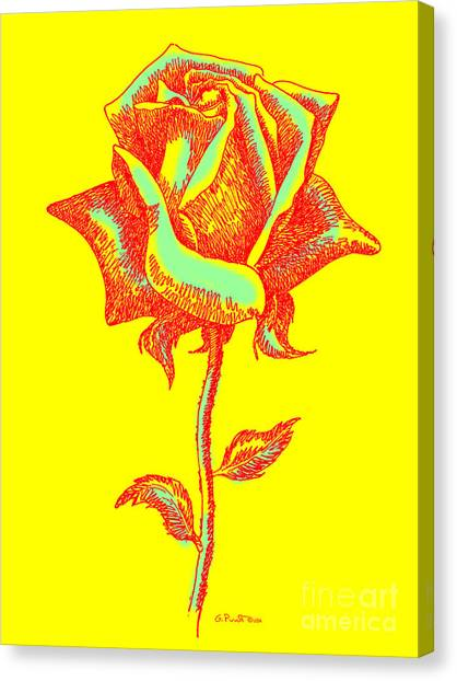 Red Rose Paintings 1 Canvas Print by Gordon Punt