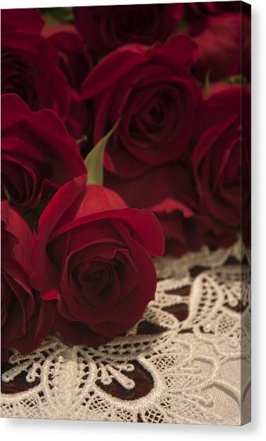 Red Roses Bouquet Canvas Print