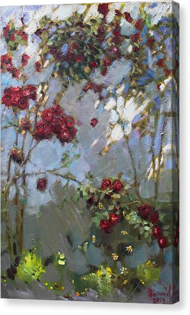 Red Roses Canvas Print - Red Roses by Ylli Haruni