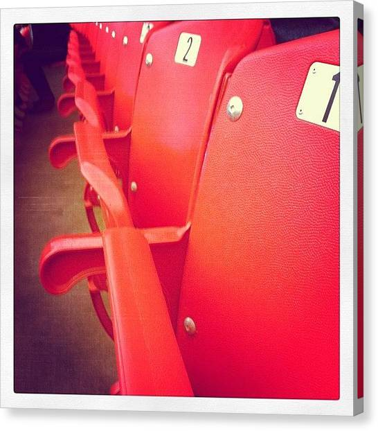Football Teams Canvas Print - Red Seats by Mackenzie Martin