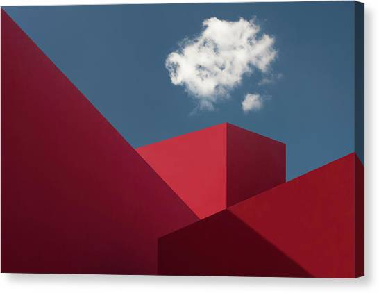 Red Shapes Canvas Print by Hugo Borges