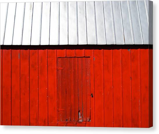 Red Shed Canvas Print by Sheryl Burns