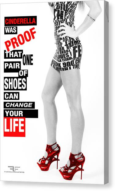 Red Shoes Canvas Print by Fussgangerfoto