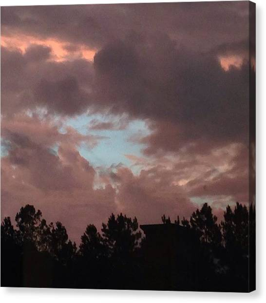 Storms Canvas Print - Red #skies On The Morning , Sailors by Daniel Eskridge
