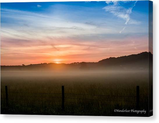 Red Sky At Morning Sailor Take Warning Canvas Print by Paul Herrmann