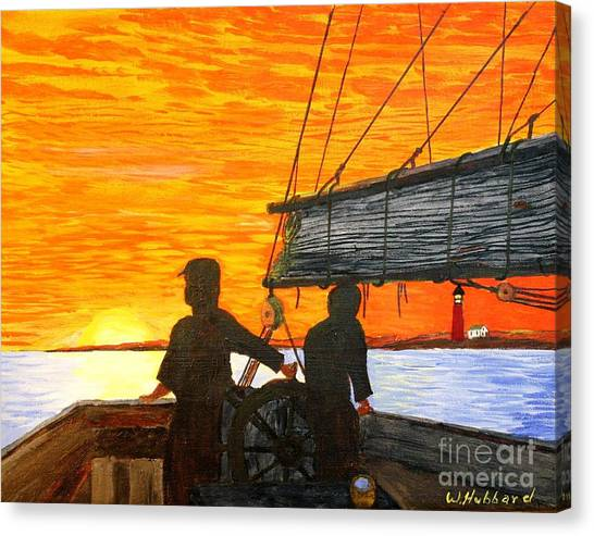 Red Sky At Night A Sailor's Delight Canvas Print