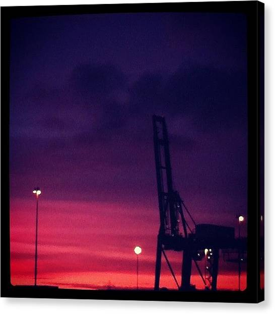 Lounge Canvas Print - Red Sky At Night by Ash Hughes