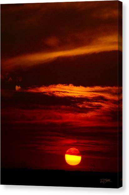 Red Sky At Night Vertical Canvas Print