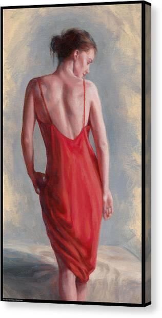 Red Slip Canvas Print