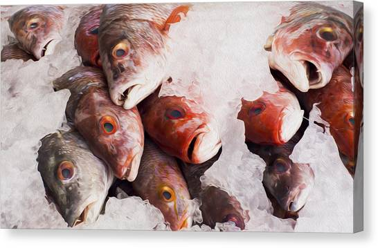 Fish Market Canvas Print - Red Snapper by Aged Pixel