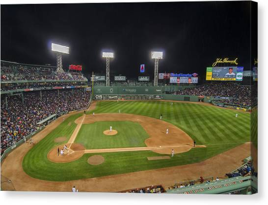 Red Sox Vs Yankees Fenway Park Canvas Print