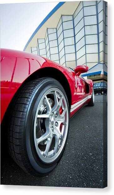 Red Sport Car Wheel  Canvas Print by Ioan Panaite
