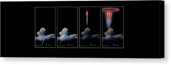 Sprite Canvas Print - Red Sprite Electrical Storm by Mikkel Juul Jensen / Science Photo Library