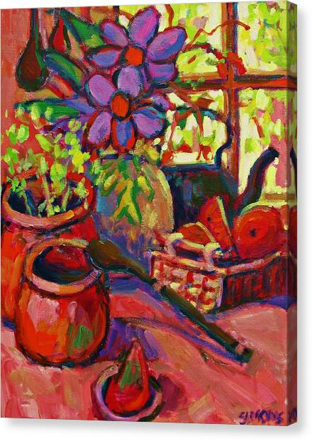 Red Still Life Canvas Print by Brian Simons