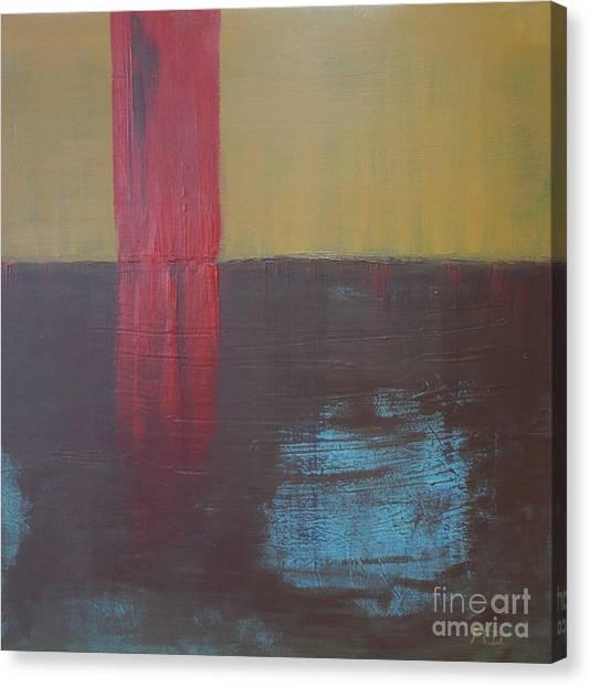 Red Strip Canvas Print