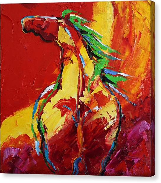 Canvas Print - Red Sun Horse 20  2014 by Laurie Pace