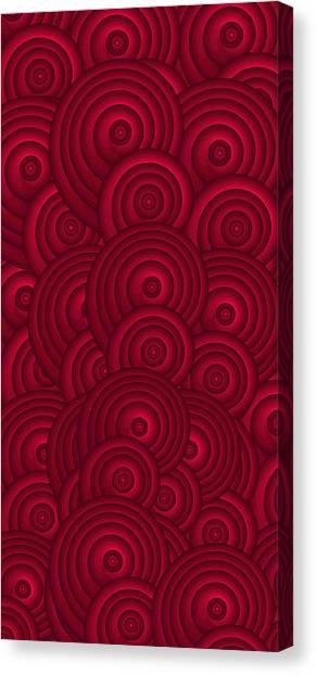Oversized Canvas Print - Red Swirls by Frank Tschakert