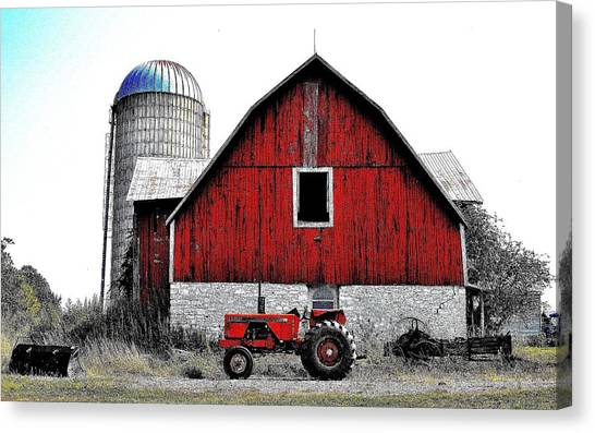 Red Tractor - Canada Canvas Print