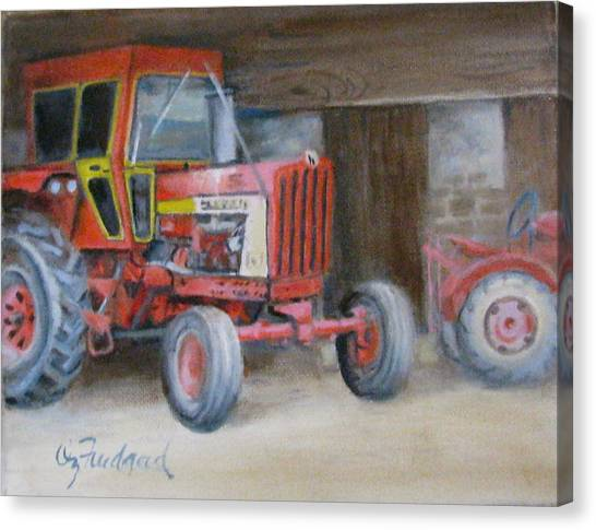 Red Tractor Canvas Print