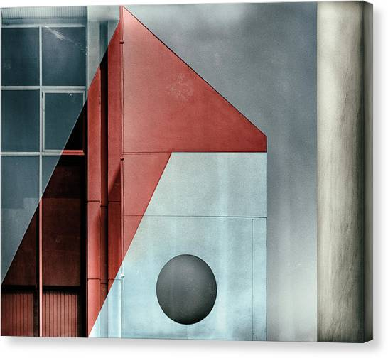 Red Transparency. Canvas Print by Harry Verschelden