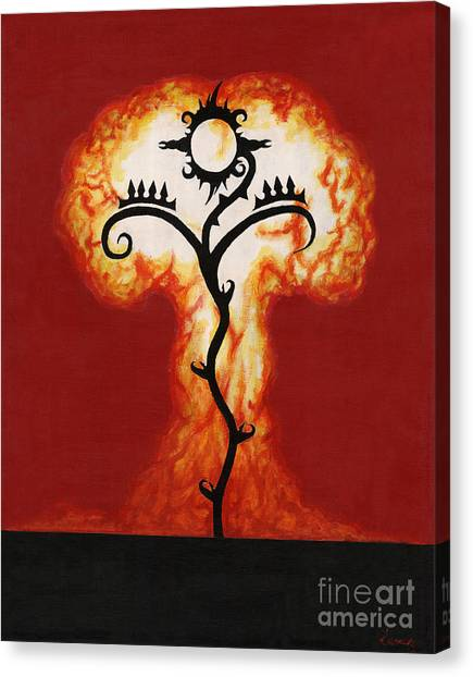 Canvas Print - Red Tree Rising by Luis Suarez