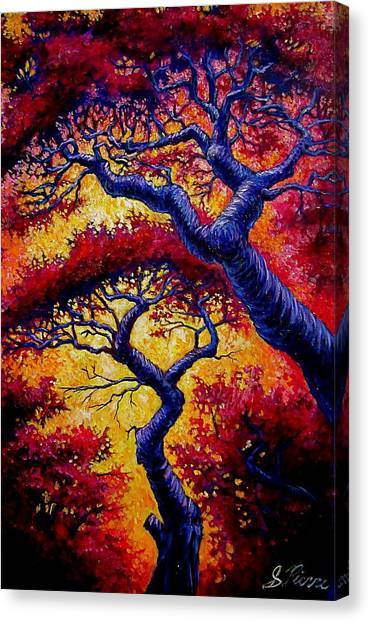 Red Trees Canvas Print by Sebastian Pierre