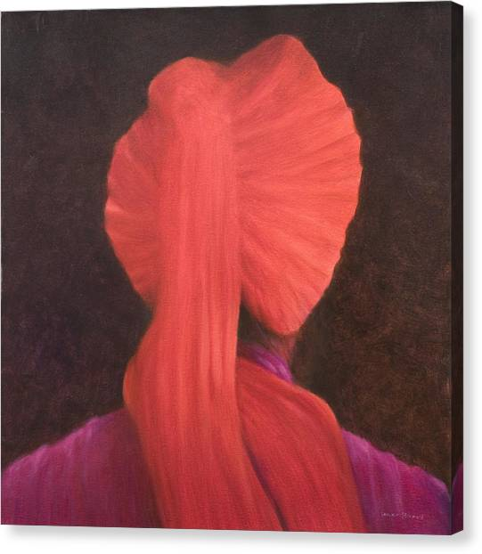 Sikh Canvas Print - Red Turban In Shadow by Lincoln Seligman
