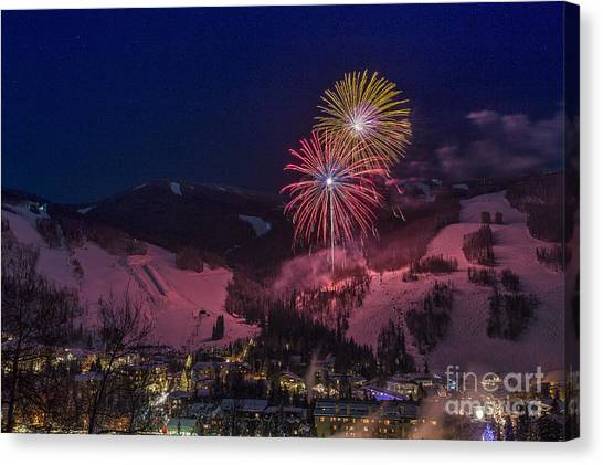 Red Vail Canvas Print