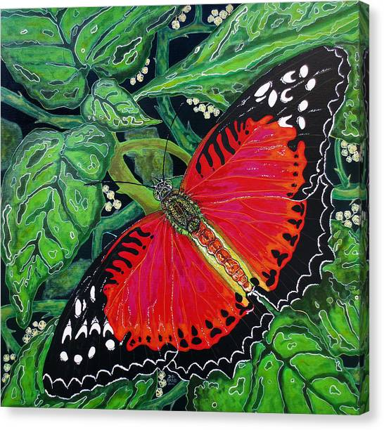 Red Butterfly Canvas Print