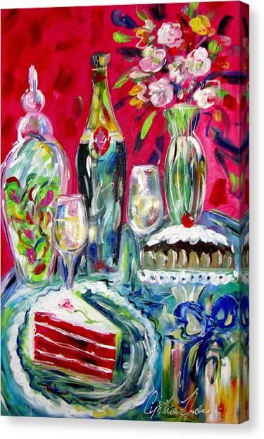 Red Velvet Cake Canvas Print by Cynthia Hudson